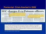 postscript crisis averted in 2006