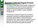business continuity program purpose