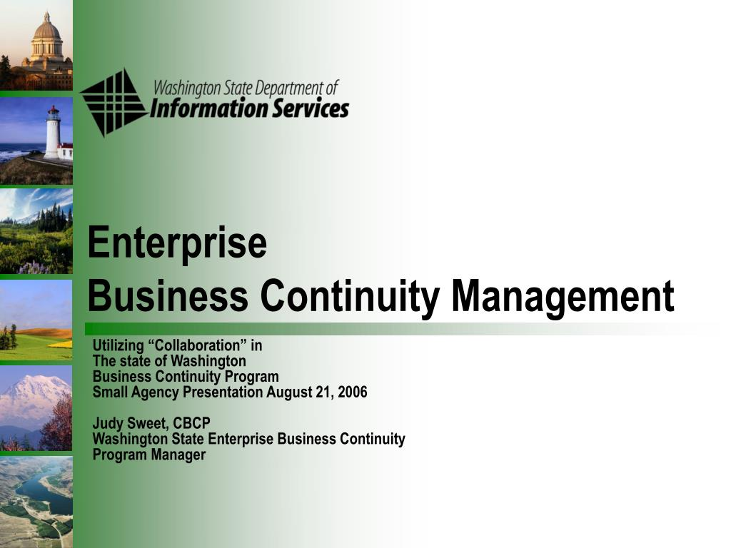 enterprise business continuity management l.