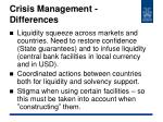 crisis management differences