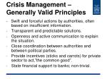 crisis management generally valid principles