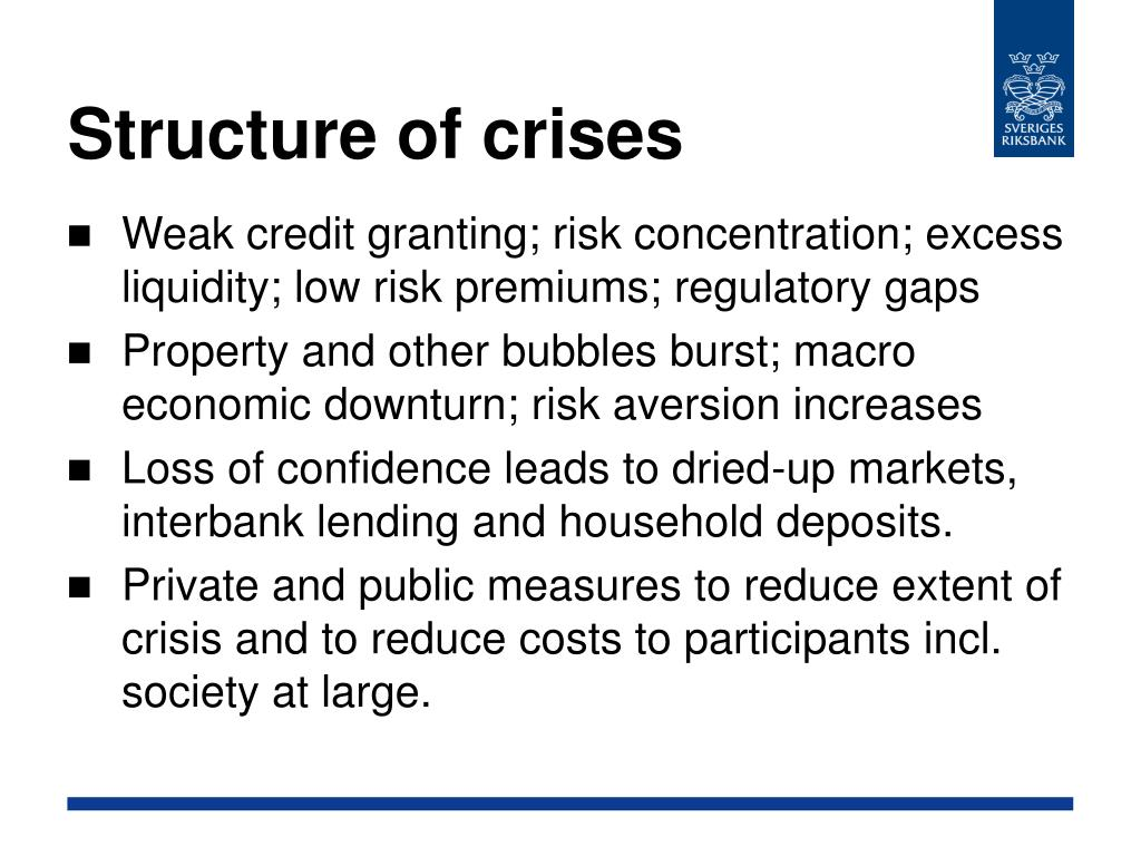 Structure of crises