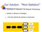 our solution more statistics