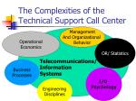 the complexities of the technical support call center
