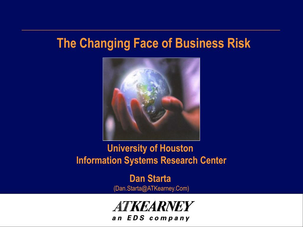 the changing face of business risk l.