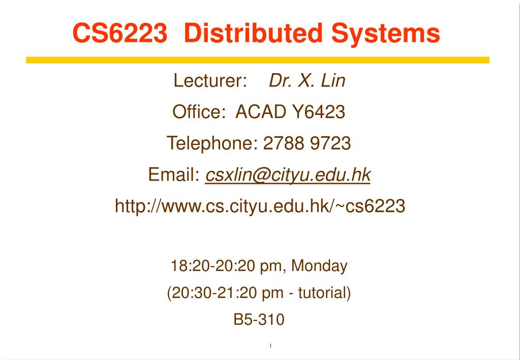 cs6223 distributed systems l.