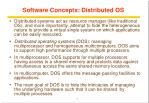 software concepts distributed os