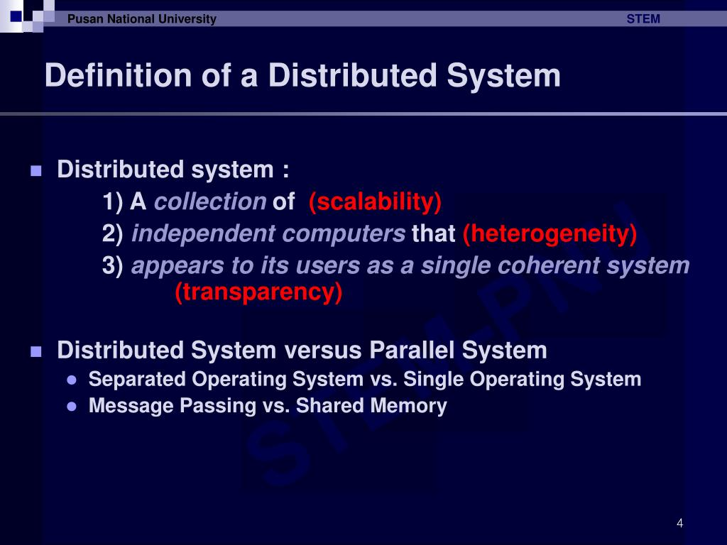 Definition of a Distributed System