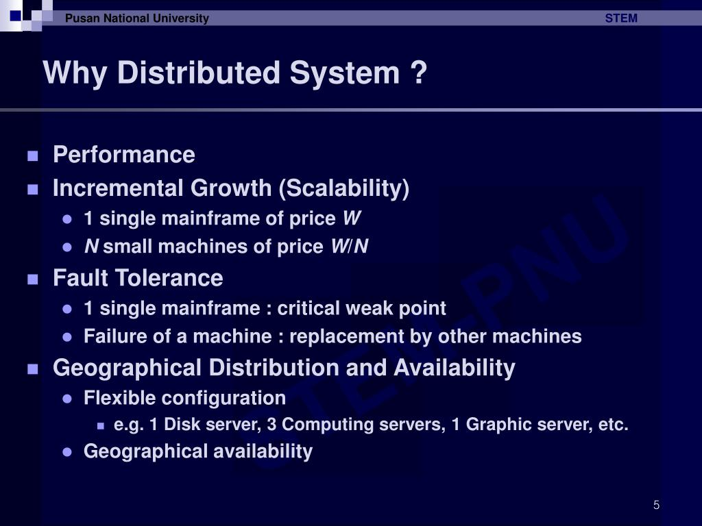 Why Distributed System ?