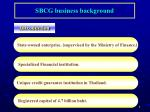 sbcg business background
