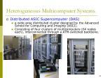 heterogeneous multicomputer systems