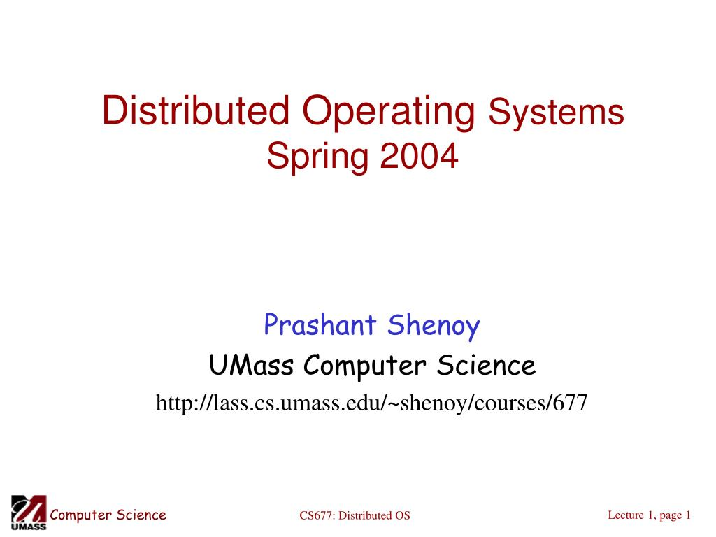 distributed operating systems spring 2004 l.