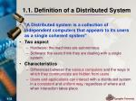 1 1 definition of a distributed system
