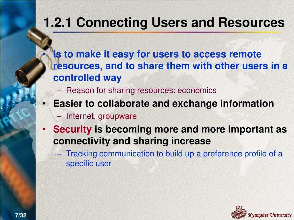 1.2.1 Connecting Users and Resources