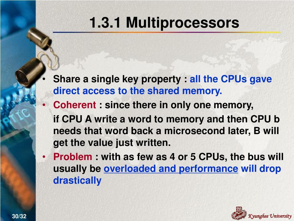 1.3.1 Multiprocessors