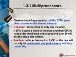 1 3 1 multiprocessors