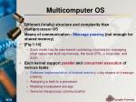 multicomputer os