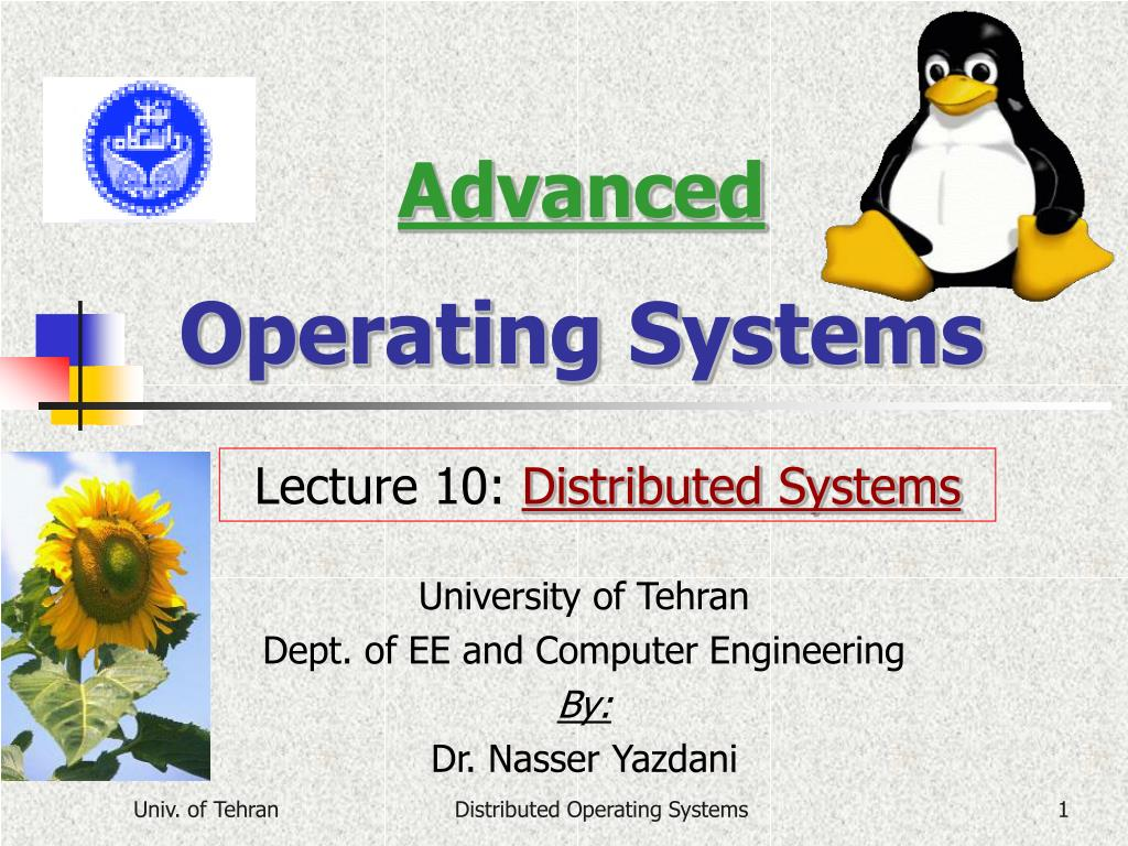 advanced operating systems l.