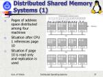 distributed shared memory systems 1