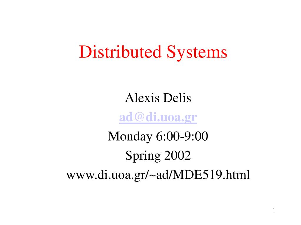 distributed systems l.