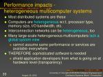 performance impacts heterogeneous multicomputer systems