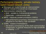 performance impacts private memory switch based network sans