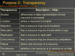 purpose 2 transparency