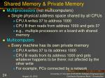 shared memory private memory