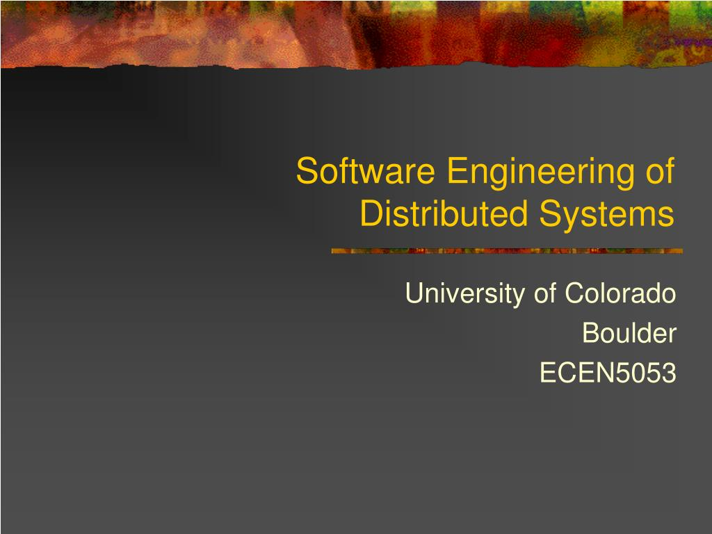 software engineering of distributed systems l.