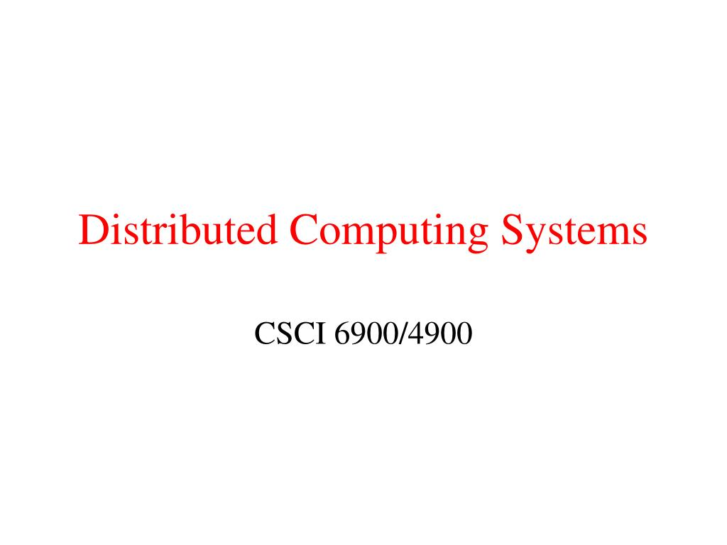 distributed computing systems l.