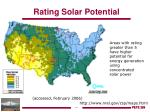 rating solar potential