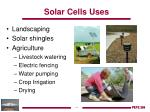 solar cells uses