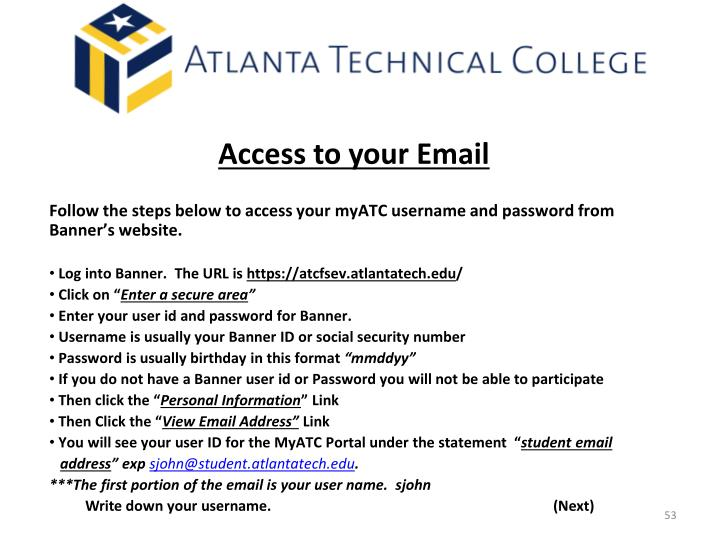 Access to your Email
