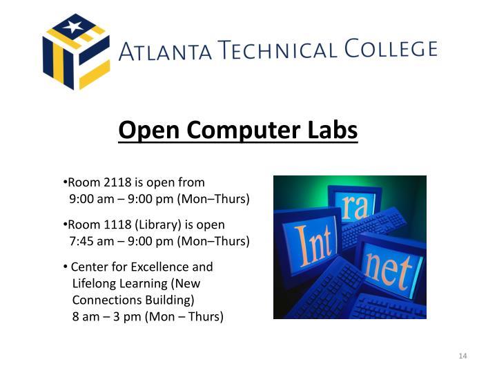 Open Computer Labs