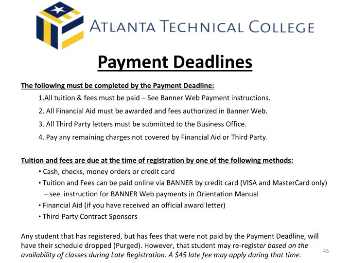 Payment Deadlines
