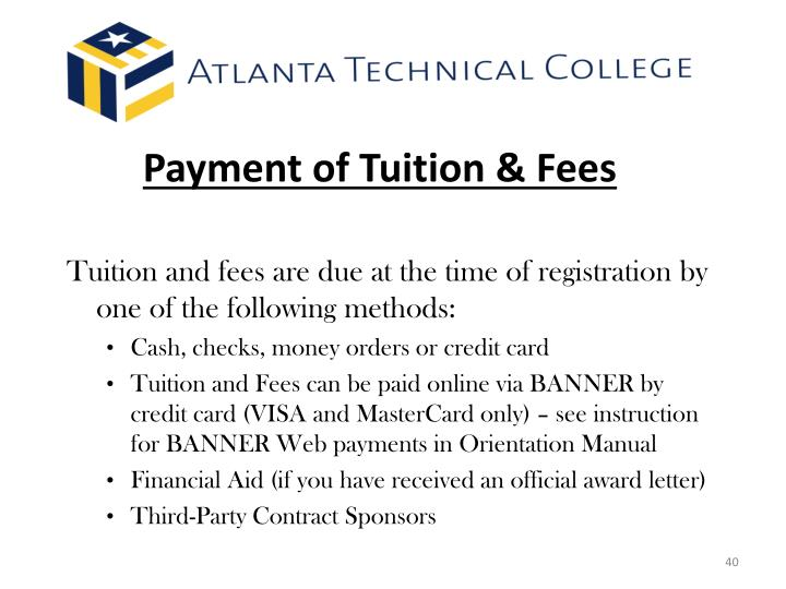 Payment of Tuition & Fees