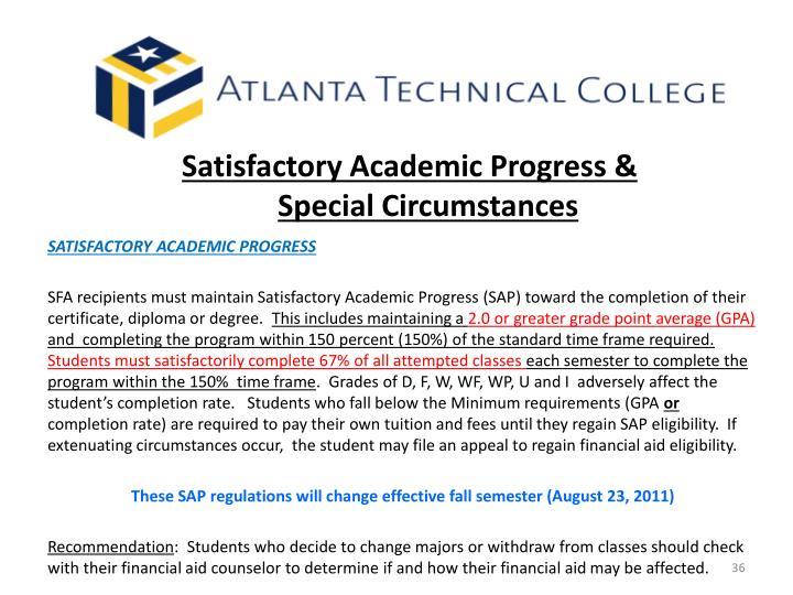 Satisfactory Academic Progress &