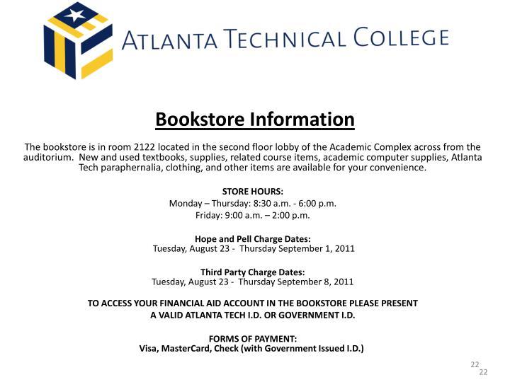 Bookstore Information