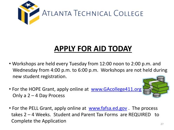 APPLY FOR AID TODAY