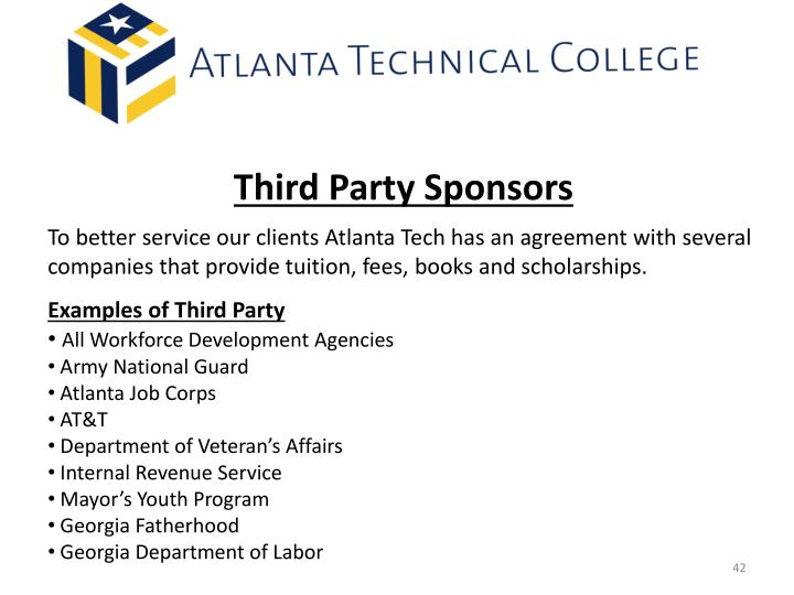 Third Party Sponsors