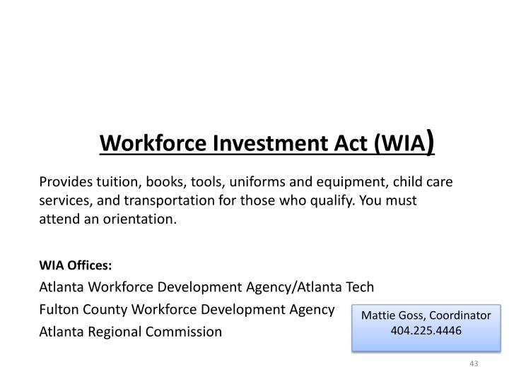 Workforce Investment Act (WIA