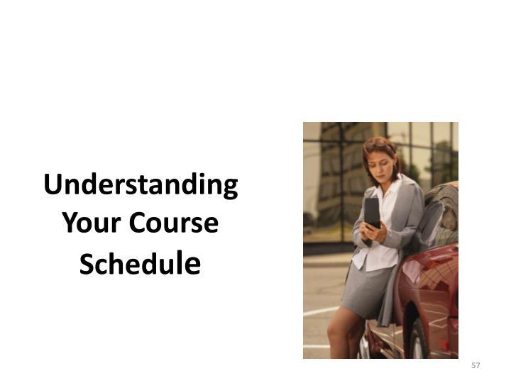 Understanding Your Course Schedu