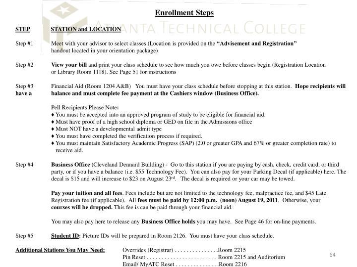 Enrollment Steps