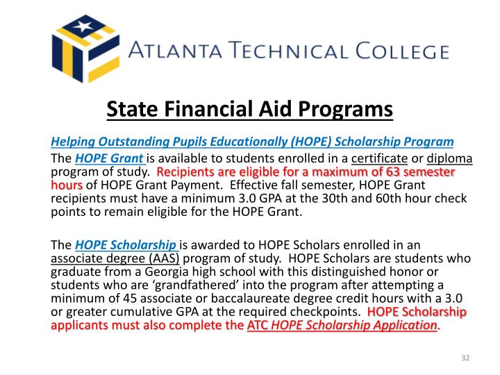 State Financial Aid Programs