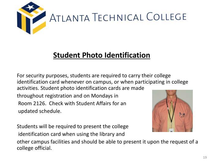 Student Photo Identification