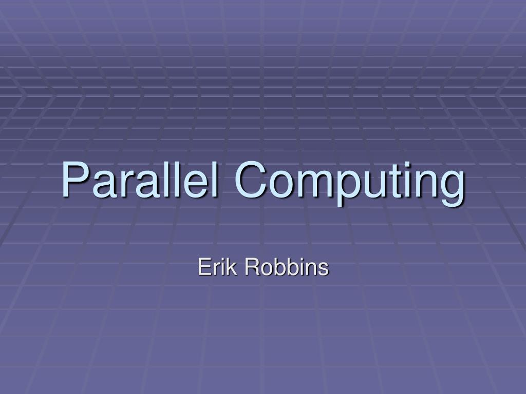 parallel computing l.