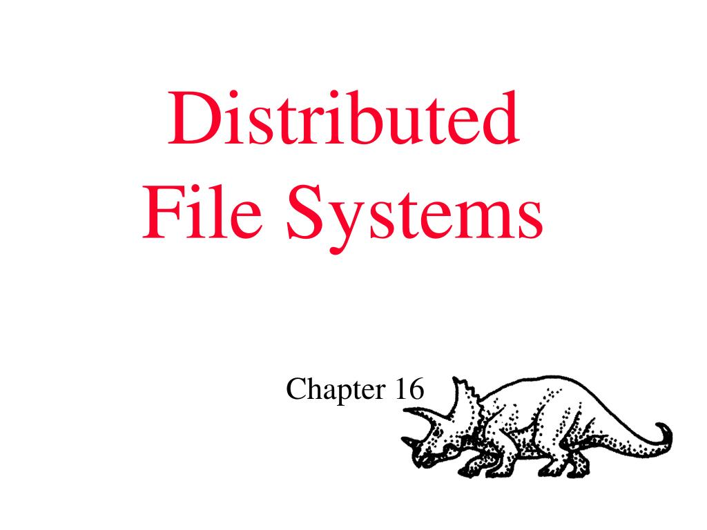distributed file systems l.