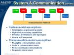system communication current