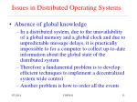 issues in distributed operating systems