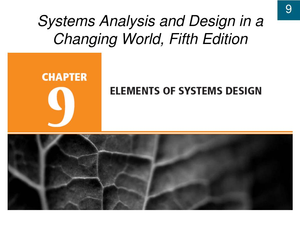 systems analysis and design in a changing world fifth edition l.